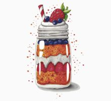 Strawberry and Blueberry shortcake in a jar One Piece - Short Sleeve