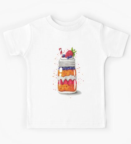 Strawberry and Blueberry shortcake in a jar Kids Clothes
