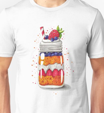 Strawberry and Blueberry shortcake in a jar Unisex T-Shirt
