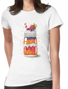 Strawberry and Blueberry shortcake in a jar Womens Fitted T-Shirt