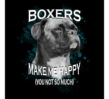 Boxer Dog Lovers Art Text  Photographic Print