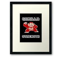Gorilla strength Framed Print