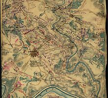 Vintage Antietam Battlefield Map (1862) by BravuraMedia