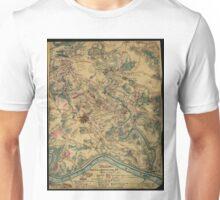 Vintage Antietam Battlefield Map (1862) Unisex T-Shirt