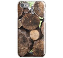 Stacked firewood iPhone Case/Skin