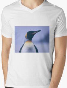 King Penguin Mens V-Neck T-Shirt