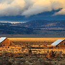 Two Barn Sunset by James Eddy