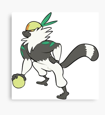 Passimian Pokemon Inspired Design Canvas Print