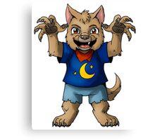 Little Werewolf Canvas Print