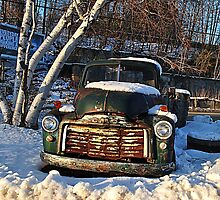 1955 GMC  Pick-Up Truck by Rebecca Bryson