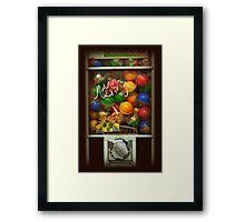 Gumball Machine Series - with Graffiti Burst - Iconic New York City Framed Print