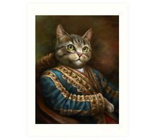 The Hermitage Court Outrunner Cat  Art Print