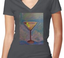 martini time Women's Fitted V-Neck T-Shirt
