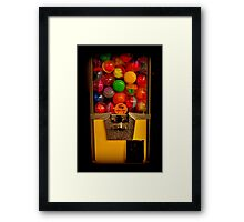 Gumball Machine Yellow - Series - Iconic New York City Framed Print