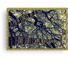 Branches of a Big Oak Tree A Poem Lovely as a Tree Canvas Print