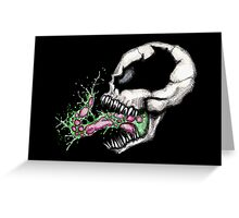 Symbiote Skull Greeting Card