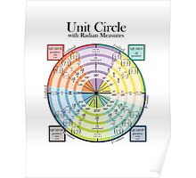 Unit Circle with Radian Measures Poster