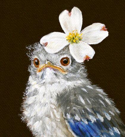 Helen, the baby bluebird Sticker