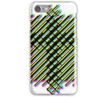 Cross Christian Lattice Hatch CMYK with Drop shadow Large iPhone Case/Skin