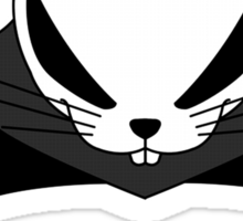 The Front of Armament - One eared Devil Rabbit Sticker