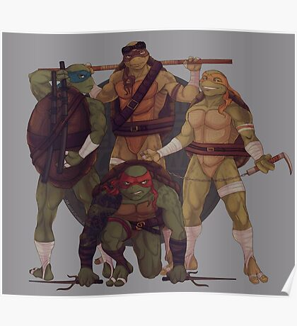 Turtle Gang By JBadgr Poster