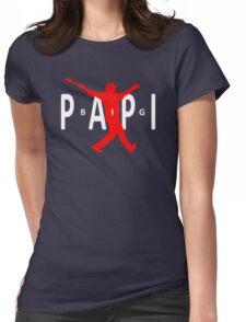 Big Papi Air Jordan Style Logo Womens Fitted T-Shirt