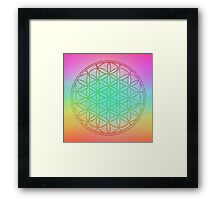 Flower Of Life in Pastel Framed Print