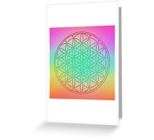 Flower Of Life in Pastel Greeting Card