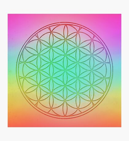 Flower Of Life in Pastel Photographic Print