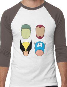 Super Heroes Men's Baseball ¾ T-Shirt