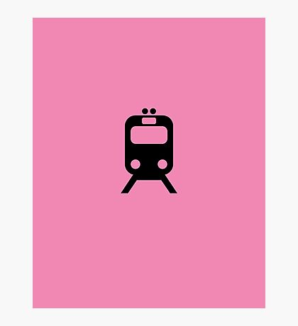 Pink Link Chicago CTA Inspired Minimalism Design Photographic Print
