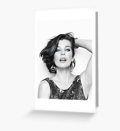 Mrs. Jovovich 2 Greeting Card