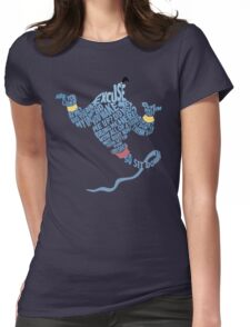 Are you talking to me? - Genie Aladdin Womens Fitted T-Shirt