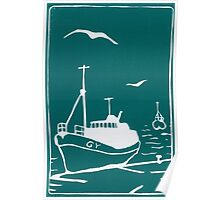 Trawlers - Comrades in Turquoise Poster