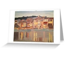 Night Lights of Cassis, France 2 Greeting Card