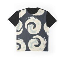 Pattern background with swirls on black background Graphic T-Shirt