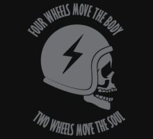 Two wheels move the soul skull One Piece - Short Sleeve
