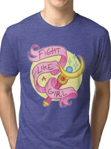 Sailor Moon - Fight like a girl! Tri-blend T-Shirt