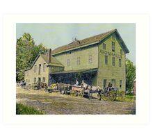 Wadsworth Mill - Avon NY, 1910 Art Print