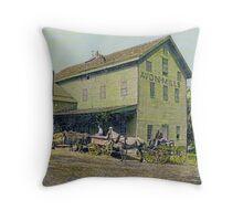 Wadsworth Mill - Avon NY, 1910 Throw Pillow