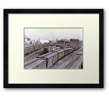 Washington Railroad Yard - Capitol Building In View, 1927 Framed Print