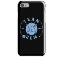 Team Rem iPhone Case/Skin