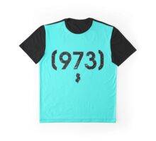 Area Code 973 New Jersey Graphic T-Shirt
