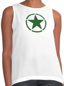 ARMY, Army Star & Circle, Roundel, Jeep, War, WWII, America, American, USA, in GREEN Contrast Tank