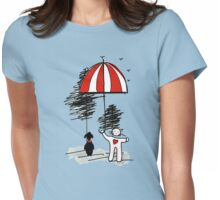 Walking Animals Womens Fitted T-Shirt