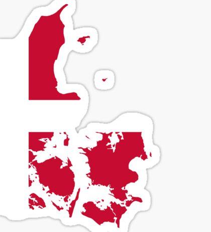 Denmark Flag Map Sticker