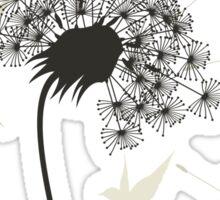 Birds a flower Sticker