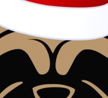 Santa Pug for the Holidays! Sticker