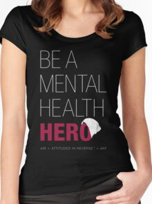Be A Mental Health Hero - Beanie Women's Fitted Scoop T-Shirt