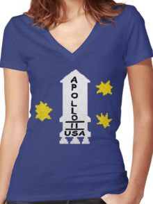 Danny Torrance Apollo 11 Sweater  Women's Fitted V-Neck T-Shirt